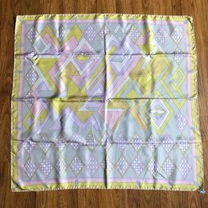 Authentic Vintage Pucci Geometric Pastel Scarf.